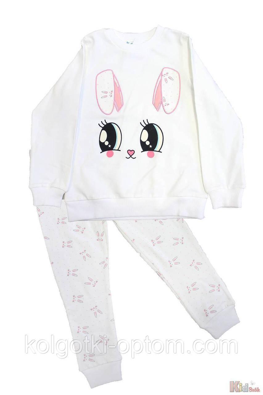 "ОПТОМ Пижама штаны и кофта молочная ""Rabbit"" (104 см.)  Pikidor 8681021255048"
