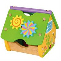 Деревянный сортер Viga Toys Веселый домик (59485), фото 1