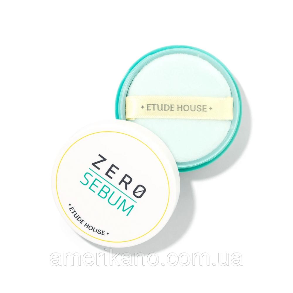 Минеральная рассыпчатая матирующая пудра ETUDE HOUSE Zero Sebum Drying Powder, 6 мл
