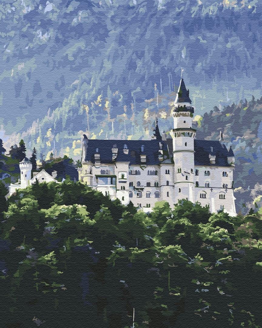 Картина по номерам пейзаж Германия замок Нойшванштайн 40х50 см, BrushMe (GX34844)