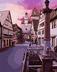 Картина по номерам пейзаж Рассвет в старом городе 40х50 см, BrushMe (GX29743)