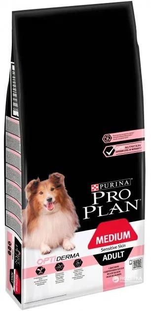 Сухий корм Purina Pro Plan Dog Medium Adult Sensitive з лососем 14кг - Преміум - Уточнюйте наявність