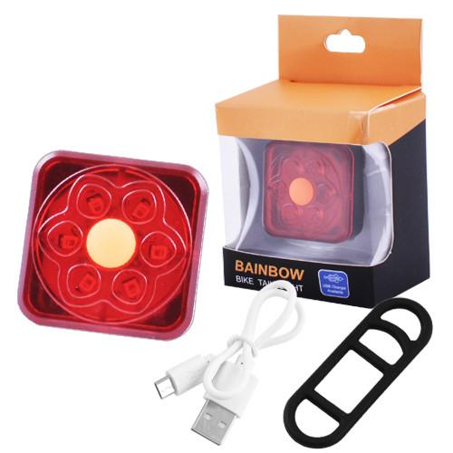 Велосипедный фонарь задний XFL-106-6SMD, micro USB, встроенный аккумулятор