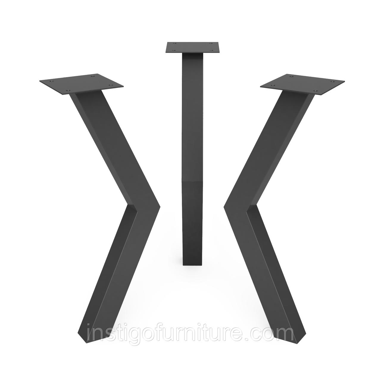 Ножка для журнального стола из металла 176×100mm, H=450mm