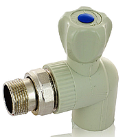Набор Кран радиаторный угловой 20х1/2 (латунный шар) 2 шт.