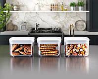 Набор 3-пр контейнеров пищевых CRYSTAL квадратных ЕMHOUSE Турция 0,5 л. EP-150
