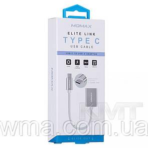 Кабель для зарядки (usb) Momax (DTAF1) Type C (0.18m)  — Silver