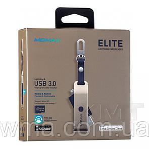Momax (CL1) Elite Lightning Card Reader  — Gold
