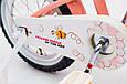 Детский велосипед премиум класс с корзинкой и багажником   BEEHIVE(Пчелки) 20 дюймов персиковый от 7 лет, фото 6