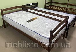 Односпальне ліжко Нота масив вільха