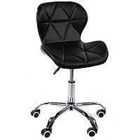 Офисное кресло операторское для персонала удобное кожзам, кресло для офиса компьютерное черный