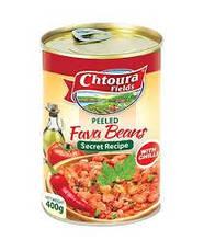 Бобы консервированные очищенные острые  Chtoura 380 грамм
