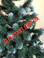 Искусственная зелёная заснеженная ёлка 1,5м ель с белыми кончиками