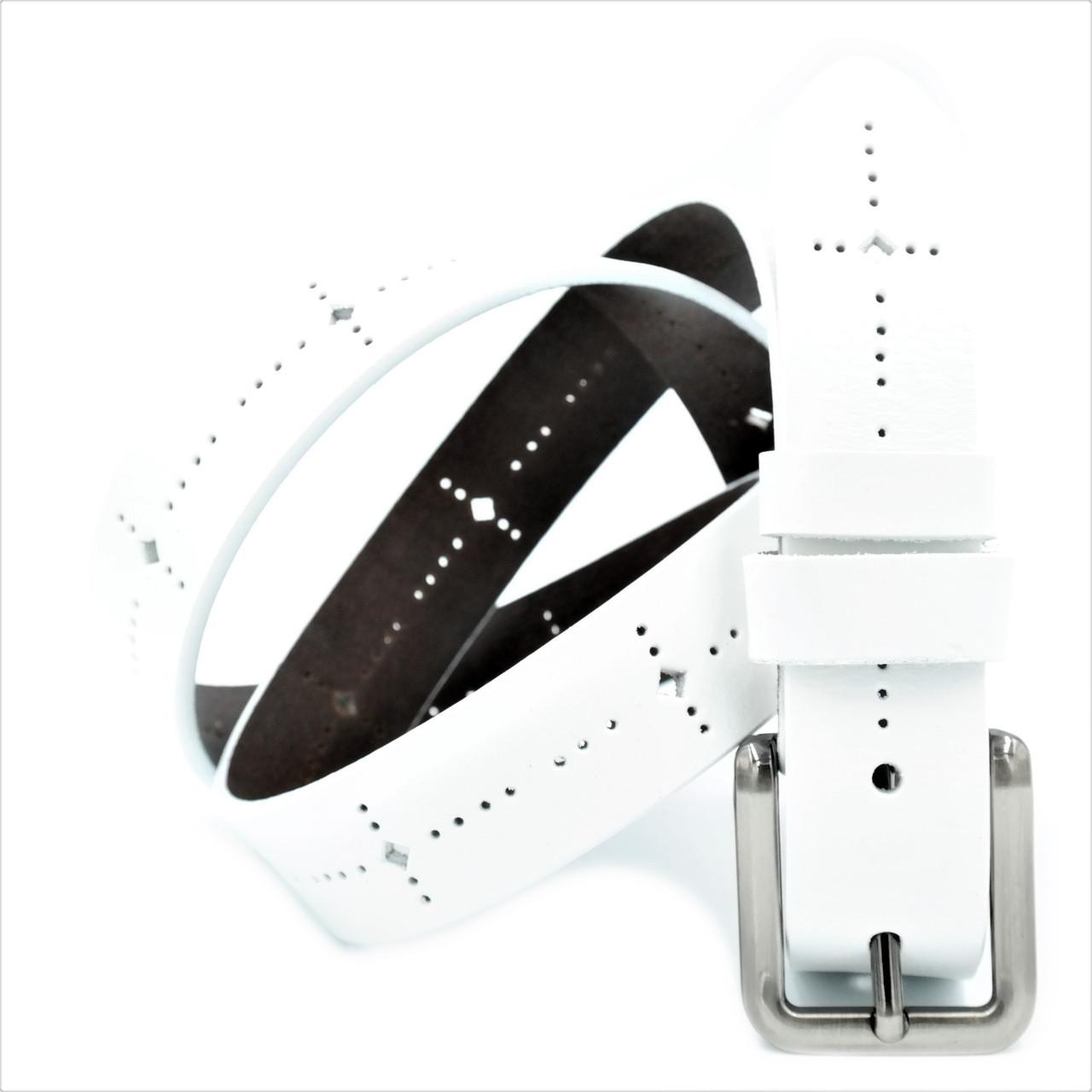 Кожаный ремень nw-zh3k-0002 Weatro Белый