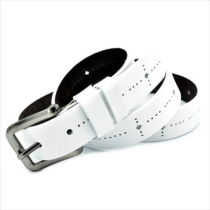 Кожаный ремень nw-zh3k-0002 Weatro Белый, фото 2