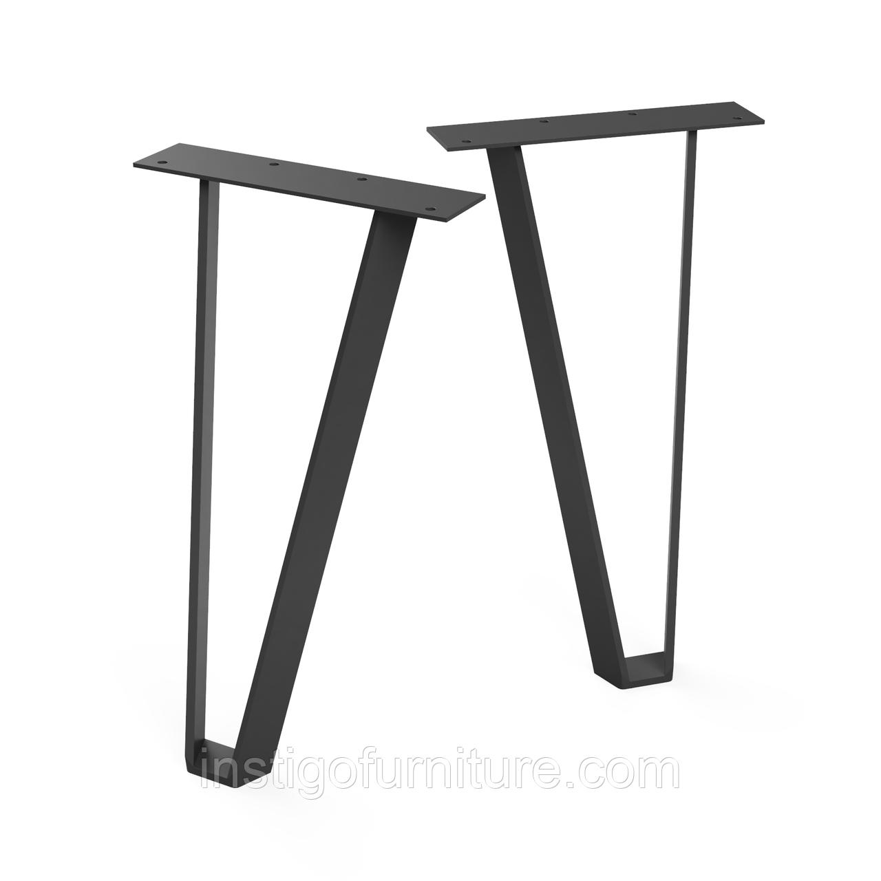 Ножка для стола из металла 224×162mm, H=363mm