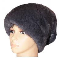 "Норковая шапка ""Стелла Веер"" (ирис)"