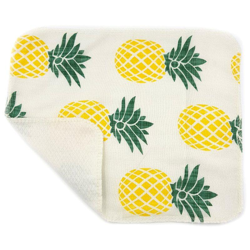Кухонное полотенце из хлопка двухслойное Ананас