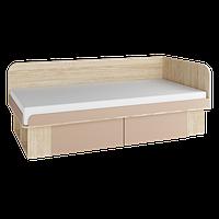 Детская кровать с выдвижными ящиками ЮНИОР ф-ка Феникс дуб сонома + капучино