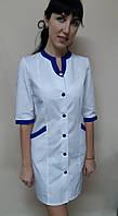 Женский медицинский халат Радуга хлопок три четверти рукав, фото 1