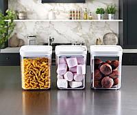 Набор 3-пр контейнеров пищевых CRYSTAL квадратных ЕMHOUSE Турция 1 л. EP-151