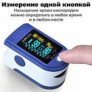 Пульсиметр оксиметр JETIX Oximeter Pulse | Прибор для измерения пульса и кислорода в крови, фото 2