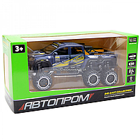 Машинка игрушечная автопром «Mercedes» (джип) металл, 20 см, синий (свет, звук, двери открываются) 7586, фото 2
