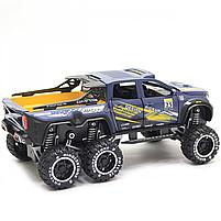 Іграшкова Машинка автопром «Mercedes» (джип) метал, 20 см, синій (світло, звук, двері відкриваються) 7586, фото 4