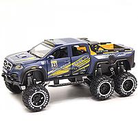 Машинка игрушечная автопром «Mercedes» (джип) металл, 20 см, синий (свет, звук, двери открываются) 7586, фото 5