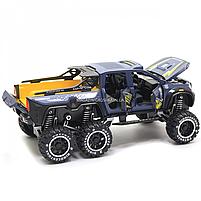 Машинка игрушечная автопром «Mercedes» (джип) металл, 20 см, синий (свет, звук, двери открываются) 7586, фото 6