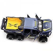 Машинка игрушечная автопром «Mercedes» (джип) металл, 20 см, синий (свет, звук, двери открываются) 7586, фото 8