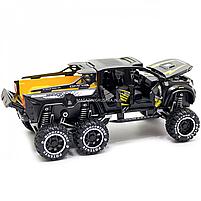 Іграшкова Машинка автопром «Mercedes» (джип) метал, 20 см, чорний (світло, звук, двері відкриваються) 7586, фото 6