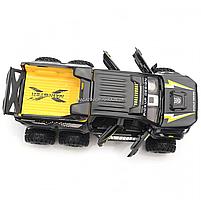 Іграшкова Машинка автопром «Mercedes» (джип) метал, 20 см, чорний (світло, звук, двері відкриваються) 7586, фото 7
