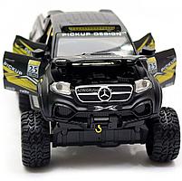Іграшкова Машинка автопром «Mercedes» (джип) метал, 20 см, чорний (світло, звук, двері відкриваються) 7586, фото 8