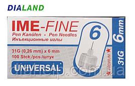Иглы ИМЕ-ФАЙН ( IME-FINE ) для шприц-ручек 31G*6мм