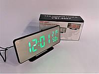 Часы настольные зеркальные с зелёным дисплеем VST-888Y
