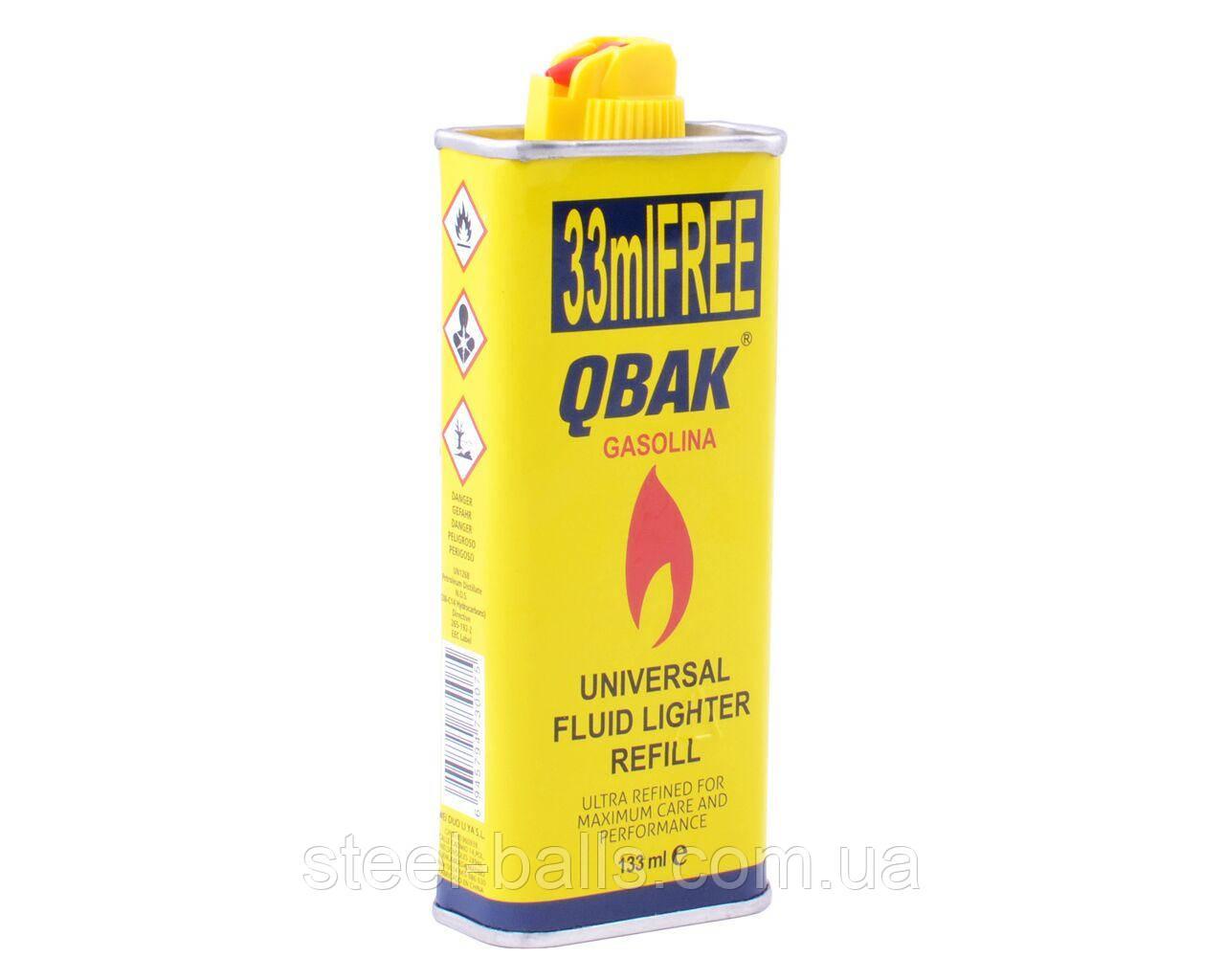 Бензин для заправки зажигалок 133 мл QBAK