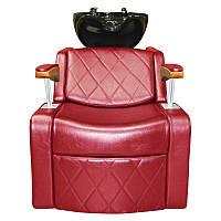 Удобное кресло с мойкой раковиной и подлокитниками из дерева М001012