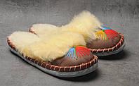 Комнатные тапочки c овечьей шерстю, розмер 37, фото 1