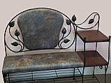 Банкетка кованая с полками  -  052-Л, фото 2