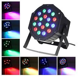 Лазер диско PAR mini, 18LED, RGB, праздничное освещение, диско проектор