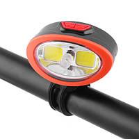 Велосипедный фонарь 509-2COB, micro USB, встроенный аккумулятор, фото 1
