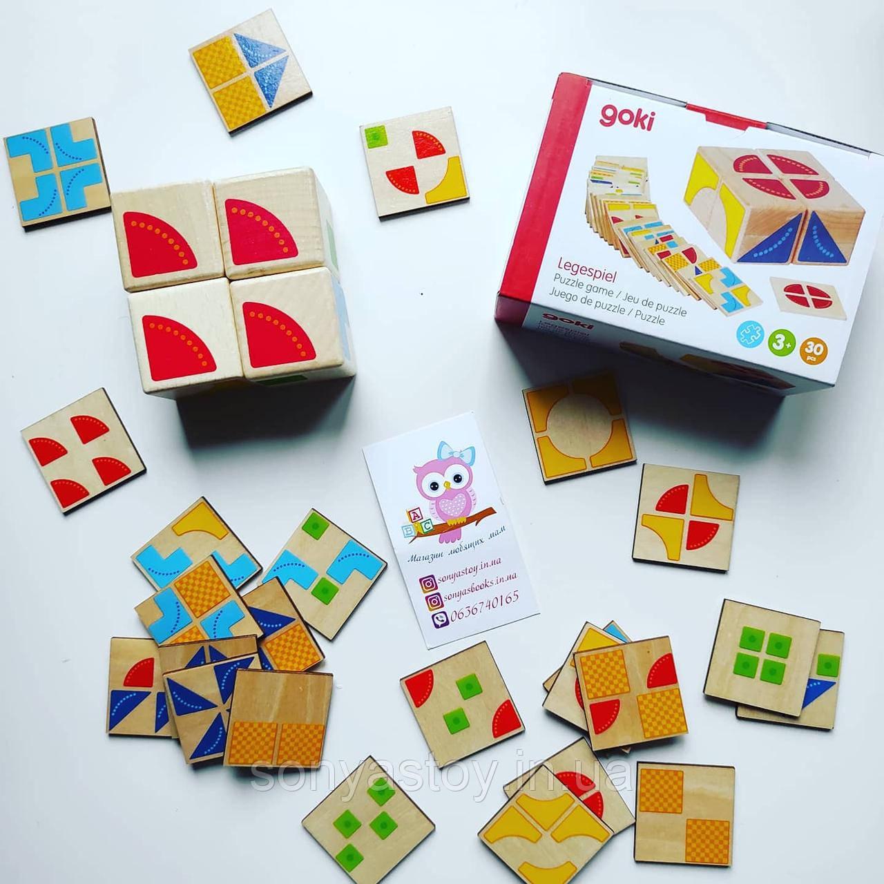 Деревянная головоломка Кубус для развития логического мышления, 3+