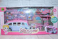 Игровой набор Автобус для девочек, 30 предметов, фигурки, в кор., фото 1