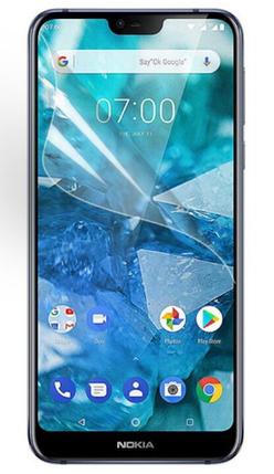Гидрогелевая защитная пленка на Nokia 7.1 на весь экран прозрачная, фото 2
