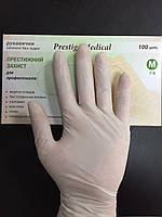 Перчатки латексные без пудры Prestige Medical