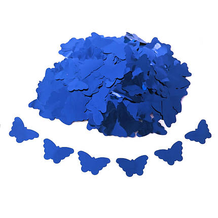 Конфетті Siverska метелики фольга синій 1000 г (BUBF1000), фото 2