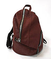 Сумка рюкзак женский бордо