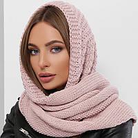 Розовый модный платок, вязаная косынка, бактус