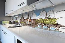 Скинали на кухню Zatarga «Крепость» 600х3000 мм виниловая 3Д наклейка кухонный фартук самоклеящаяся Z180802/2, фото 3